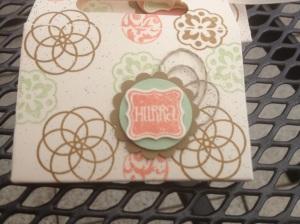 Tasche aus Umschlag mit Zierlasche (6)