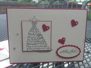 Zum schönsten Tag im Leben - Hochzeitskarte (1)